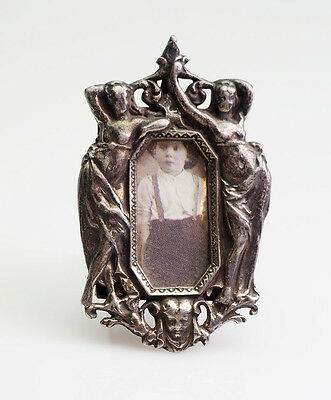 Beautiful antique miniature Art Nouveau sterling silver picture photo frame