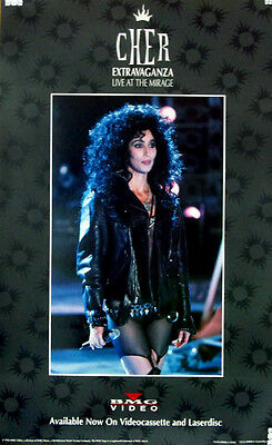 Rare Cher Extravaganza Live at the Mirage BMG Home Video VHS Promo Poster 1992