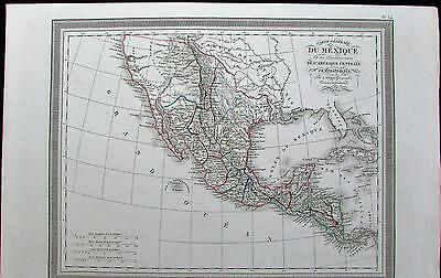 American southwest Texas U.S. 1834 old antique color map
