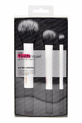 Real Techniques Duo-Fiber Collection 3 Brushes for Face Contour Eye Makeup 1414
