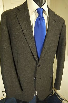 Brooks Brothers Regent Wool-Cashmere  Size 42R Dark Gray 2 Button Sportcoat