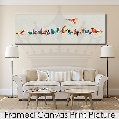*Bird* Stretched Canvas Print Picture Hang Poster Wall Art Home Decor Gift NEW