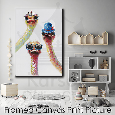 *Emu* Stretched Canvas Print Picture Hang Poster Wall Art Home Decor Gift NEW