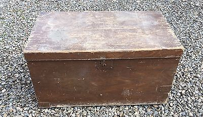 Wooden Storage Chest Box Table For Restoration Large. Coffee Table, Blanket Box