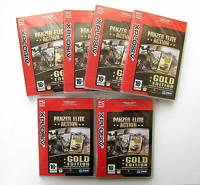 6 x Panzer Elite Action Gold Edition PC Games *New & Sealed - Clearance Stock*