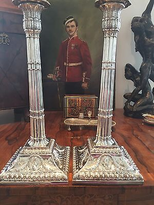 George III Sterling Silver Candle Sticks - London 1771
