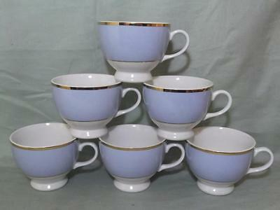 6 Royal Doulton Powder Blue Tea Cups Bruce Oldfield/Daily Mail
