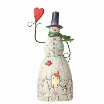 New Enesco Folklore by Jim Shore Folklore Snowman with Heart