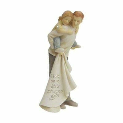 New Enesco Found Dad And Daughter Figurine