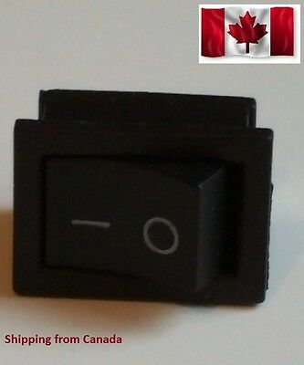 Xell 5 pcs Rocker Switch 2 pin / 2 Port On/ Off (SPST) 6A 250 vac, 10A 125 vac