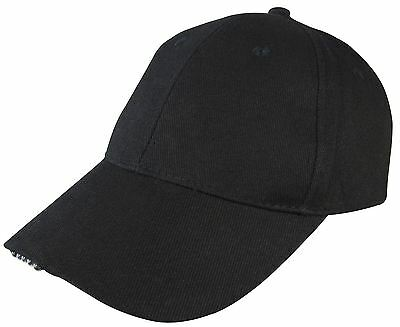 Am-Tech Baseball Cap With 5 Led - Adjustable Strap Hat Fishing Camping S1520