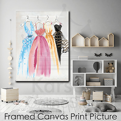 *Dresses* Stretched Canvas Print Picture Hang Wall Art Home Decor Gift NEW