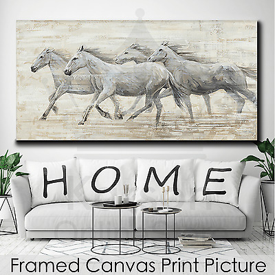*Running Horses* Stretched Canvas Print Picture Hang Wall Art Home Decor Gift