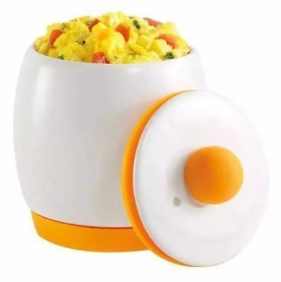 Eggs Xite - Ceramic Microwave Eggs Cooker And Poacher For Fast And Fluffy Eggs