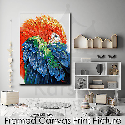 *Parrot* Stretched Canvas Print Picture Hang Poster Wall Art Home Decor Gift NEW