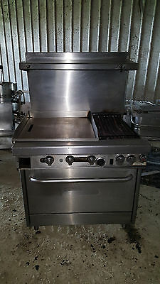 "Southbend Gas 24"" Flat Top Grill Griddle w/ 12"" Chargrill Oven Range 36"" Stove"