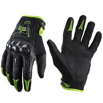 Fox Bomber Motocross Motorcycle Cycling Riding Bike Racing Gloves Black-Green