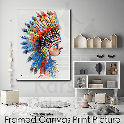 *Indian Girl* Stretched Canvas Print Picture Hang Wall Art Home Decor Gift NEW