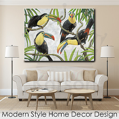 *Toucans II* Stretched Canvas Print Picture Hang Wall Art Home Decor Gift 90*120