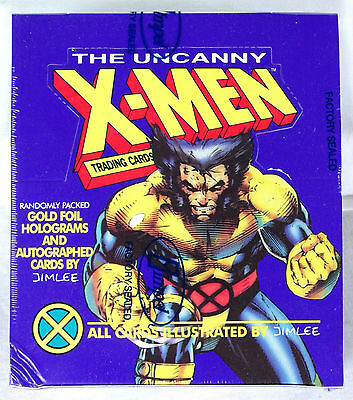 1992 Impel Marvel Uncanny X-Men Factory Sealed Trading Card Box Jim Lee AUTO'S