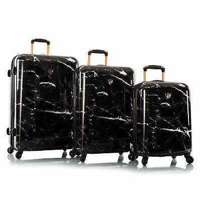 Heys Marquina - Black Marble Fashion Spinner Various Size