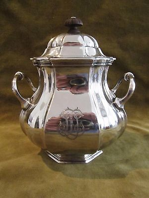 1900 french sterling silver sugar bowl french 18th c st Debain 448g 16oz