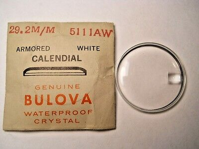 BULOVA Replacement Waterproof Watch Crystal ARMOR WHITE CALENDIAL 5111AW 29.2mm