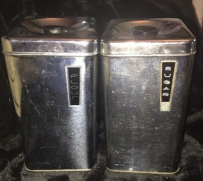 Vintage 1950's Lincoln Beautyware Chrome Metal Canister Sugar