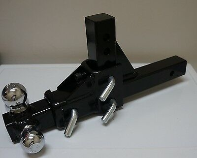 """New Triple 3 Ball Adjustable Swivel Tow Hitch Mount Trailer Fits 2"""" Receiver"""