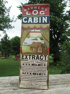 Classic WARNER'S Log CABIN EXTRACT - COLORFUL with SUPERB GRAPHICS - Box ONLY !!