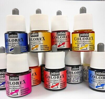 Pebeo Colorex Watercolor Inks - Full Collection of 20 Bottles
