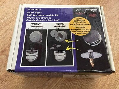 Brand New Keeney Manufacturing Co. White Plastic Drain Cover With Seal Test Kit
