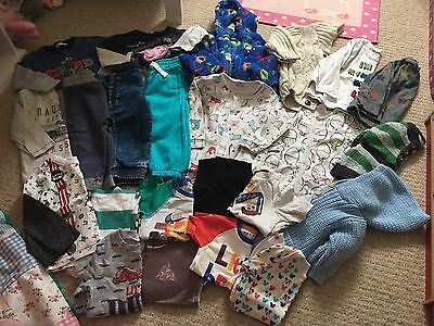 Boys 12-18 Bundle 22 Items Top*joggers*jumpers*Sleepsuits*Dressing Gown*T-shirts