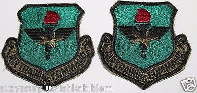 USAF Air Training Command ATC sew on cut edge embroidered Patch Lot of 2 P001