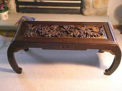 Merveilleux ANTIQUE CHINESE HAND CARVED COFFEE TABLE Excellent Condition