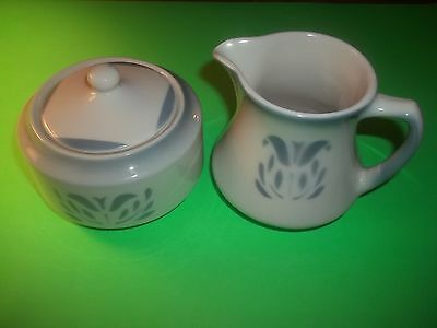 VTG SYRACUSE CHINA CADET Sugar Bowl w/Lid & Creamer Restaurant Ware