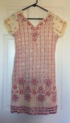 Indian Beaded Sequin Juniors Dress Size Medium-Large