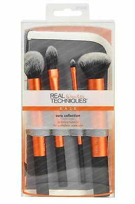 Real Techniques 5-piece Core Collection, 4 Makeup Brushes + 2-in-1 Pouch 1403