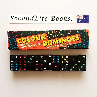 COLOUR DOMINOES ~ Children Who Cannot Count, Match The Colours. SPEAR'S GAMES.