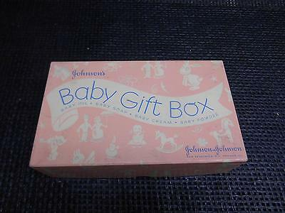 Old Vtg JOHNSON & JOHNSON Baby Gift Box Advertising New Brunswick N.J Chicago
