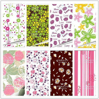 "10 pcs Flower Chocolate Transfer Sheets DIY Cake Decoration Paper 13"" x 8 1/4"""