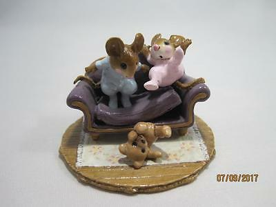 Wee Forest Folk Tumbling Tots - Purple Couch - Retired in 2008 - WFF Box