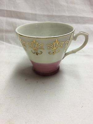 Small Teacup Made in Japan- Pink and Gold