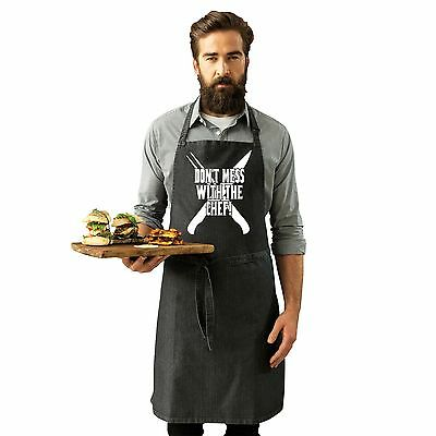 Dont Mess With The Chef Funny Joke BBQ Adult Kitchen Cooking PREMIER APRON