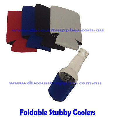 25x Foldable Blank Stubby Holder Cooler Sublimation ink Heat Transfer 4 colours