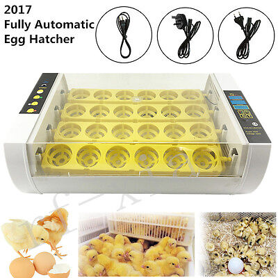24 Egg Incubator Hatcher Automatic Clear Egg Turning Digital Temperature Contro