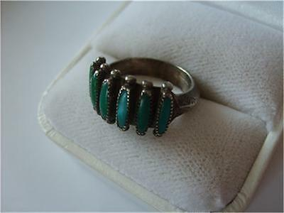 Old Vintage Antique Turquoise Sterling Silver Ring