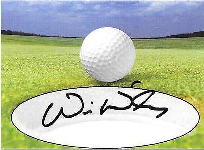 Will Wilcox   SIGNED / Autographed Inperson Card  PGA