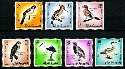 IRAK Birds Of Iraq Hoopoe , Eurasian Jay , Peregrine Falcon 1968 Set 463  MNH