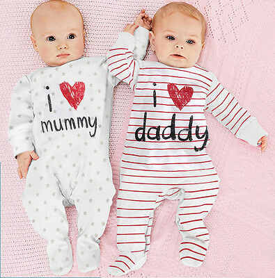 Newborn Infant Baby Bodysuit Romper Jumpsuit Outfits Kids Boys Girls Toddler